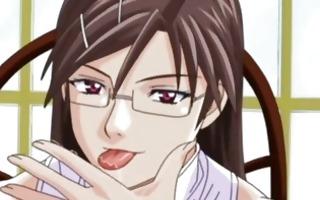 manacled hentai lad gets sucked unbending knob