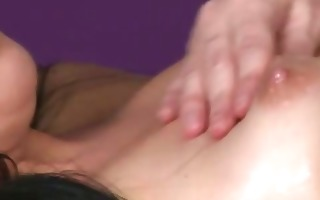 she uses her boobs during the massage to make her