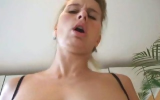 wife in hot lingerie acquires a creampie