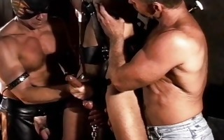 cbt fuckfest suspended and caged in chain while 3