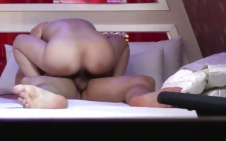 hotel room quickie sex by asian duo