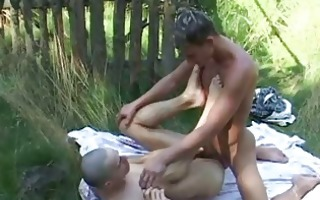 horny shaved chap taking pecker into his ass