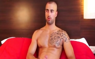 str french guy jerking off his pecker and great