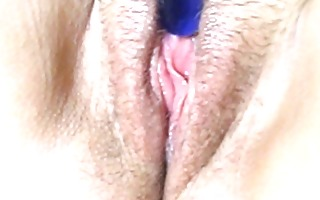 great closeup mmf orgasm with a blue sex toy