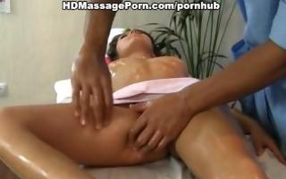 dark brown doing massage and masturbate pussy