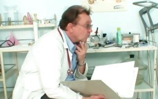 gyno doctor speculum examines very old older