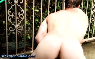 gay muscle jock ass toying