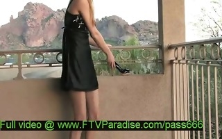 alexa delicate hot in nature blond babe dresses