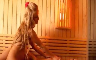 lezzie teen lovers fingering in sauna