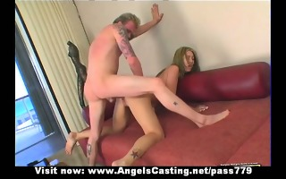 lovely in nature golden-haired chick fucked hard