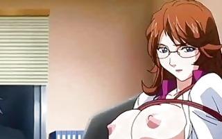 hentai nurse getting facial and taking a pecker