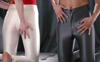 shiny skinny slacks pack a surprise