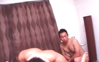 japanese bitch receives a ribald facial in bang