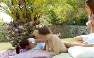 incredible sapphic threesome from russian