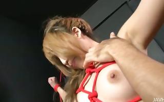 hatsuka kobayashi fastened up and teased until