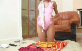 live show of miniature russian teenager