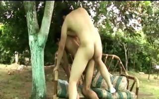 bareback latin licks cum up after anal ass fucking