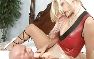 breasty blond dominatrix-bitch bangs her hunk