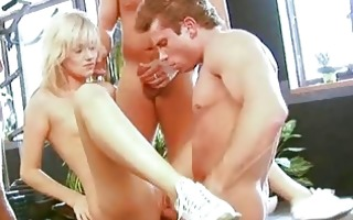 super slutty czech 3some in the gym