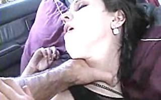 goth gal gets it is in car