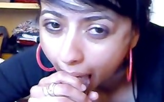 indian beauty gives nasty oral-stimulation