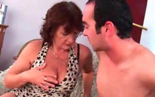 grandma with hairy pussy sucks his vagina creamed