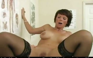mature breasty brunette hair slut on a hospital