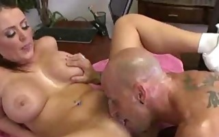 fake tit babe fucking her boss in the office