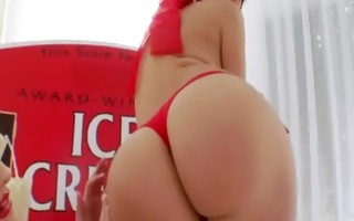 ice ball batter in her nasty bottom