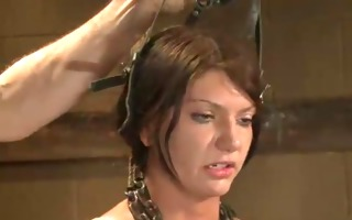 restrained with ropes brunette screwed