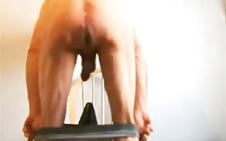 anal fist and fucking a huge wazoo plug