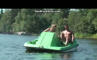 titted blond drilled hard in a boat