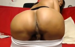 titty brunette whacking off alone