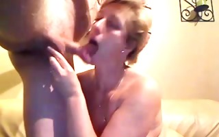 aged pair exchanging oral sex