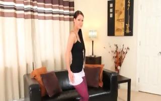 purple nylon pantyhose on hawt glamour
