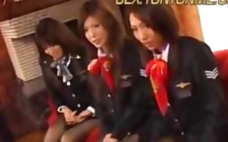 stewardess creampie party1