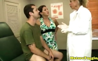 lascivious matures share his hard cock to tug