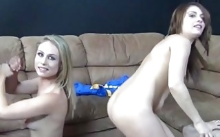 charlee monroe in a foursome blow job challenge