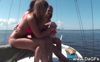 come aboard of the yacht lesbian hotties of the