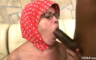cock engulfing grandma receives fucked!