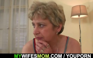 lustful granny seduces him but wife finds out!