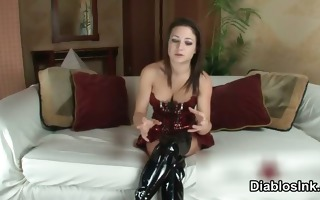 naughty dark brown whore acquires horny talking