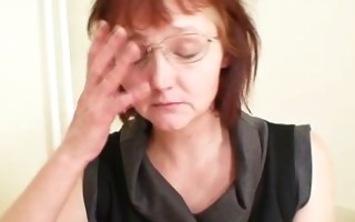 old non-professional mamma toying herself on a