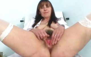 aged mama karin shows off shaggy bawdy cleft