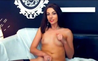 honey in dark lingerie plays with her pussy