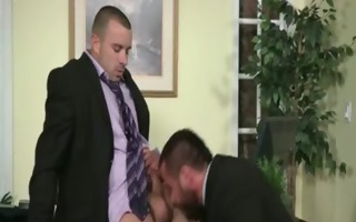 muscled gay studs fuck in yhe office hardcore