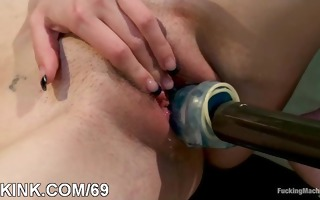 obscene villein cutie squirts and screwed hard