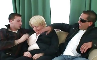 studs gangbang absolutely drunk granny
