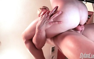lance alexander receives fucked in the kitchen by