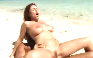busty chick beach oral-sex and sex